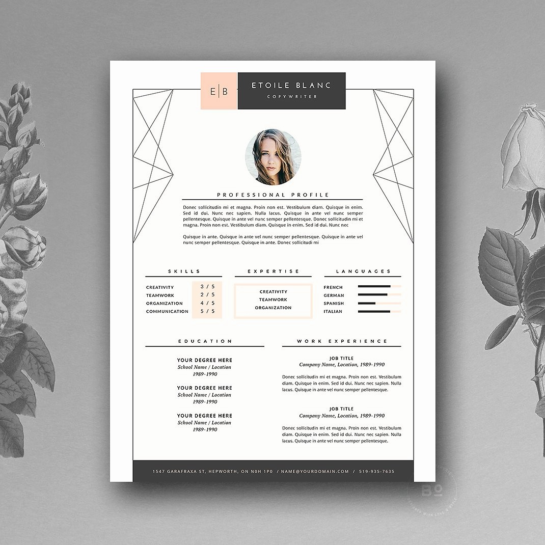 Unique Resume Templates Free Word New Creative Resume Template 2019 List Of 10 Creative Resume