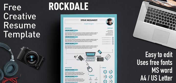 Unique Resume Templates Free Word New Rockdale Creative Resume Template