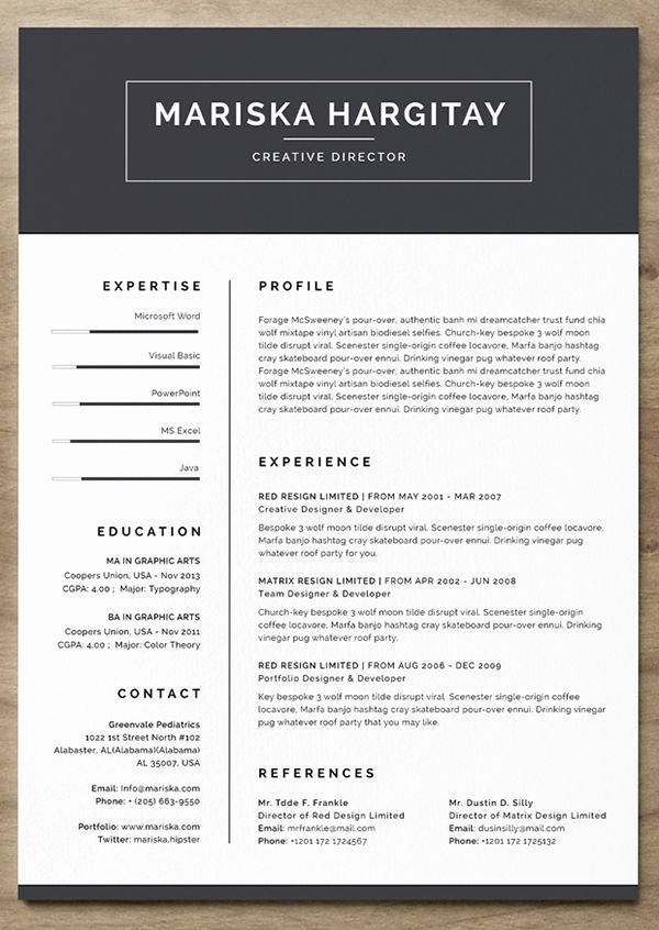 Unique Resume Templates Free Word Unique 24 Free Resume Templates to Help You Land the Job