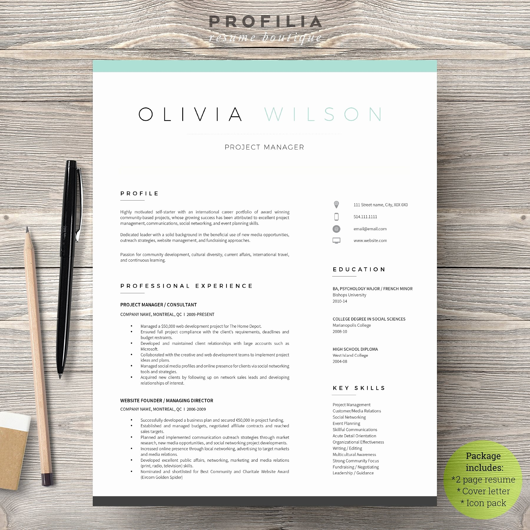 Unique Resume Templates Free Word Unique Word Resume & Cover Letter Template Cover Letter
