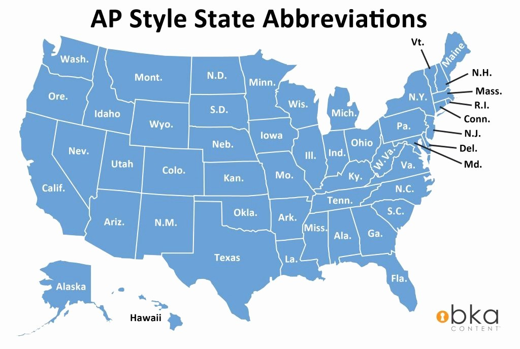 Us or U.s. Apa Inspirational Ap Style State Name Abbreviations