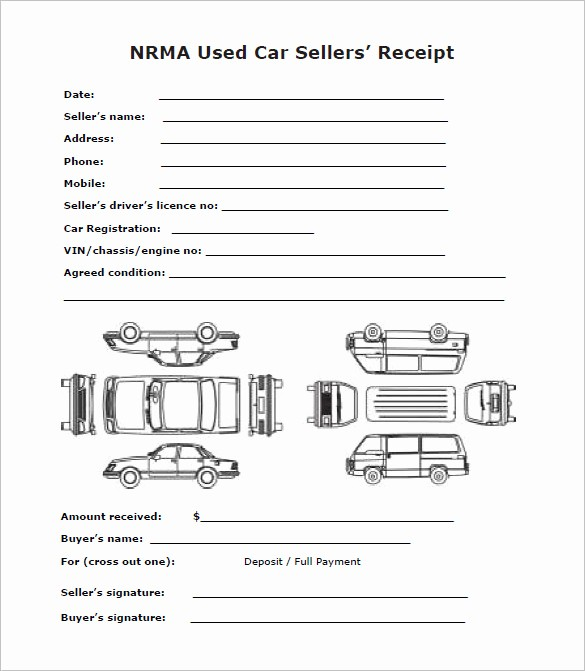 Used Car Sales Receipt Template Inspirational 21 Deposit Receipt Templates Doc Pdf
