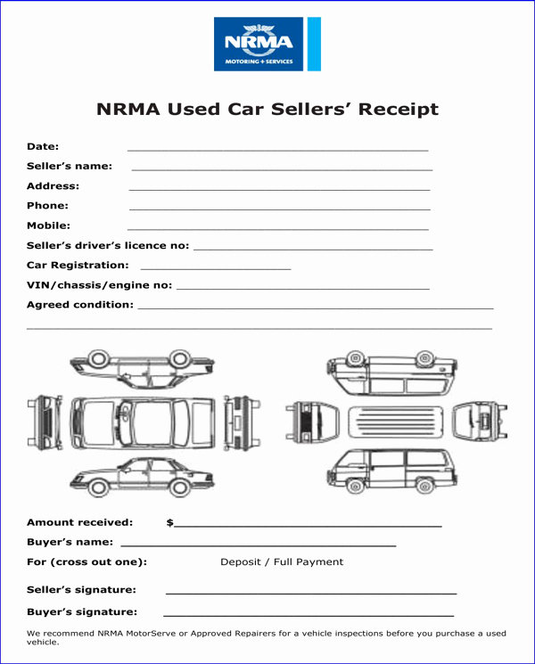 Used Car Sales Receipt Template New Download Car Sale Receipt Template for Free formtemplate