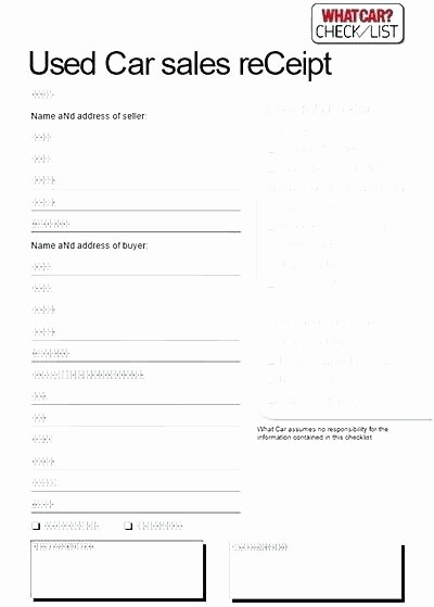 Used Car Sales Receipt Template New Second Hand Car Receipt Used Car Sale Receipt 2nd Hand Car