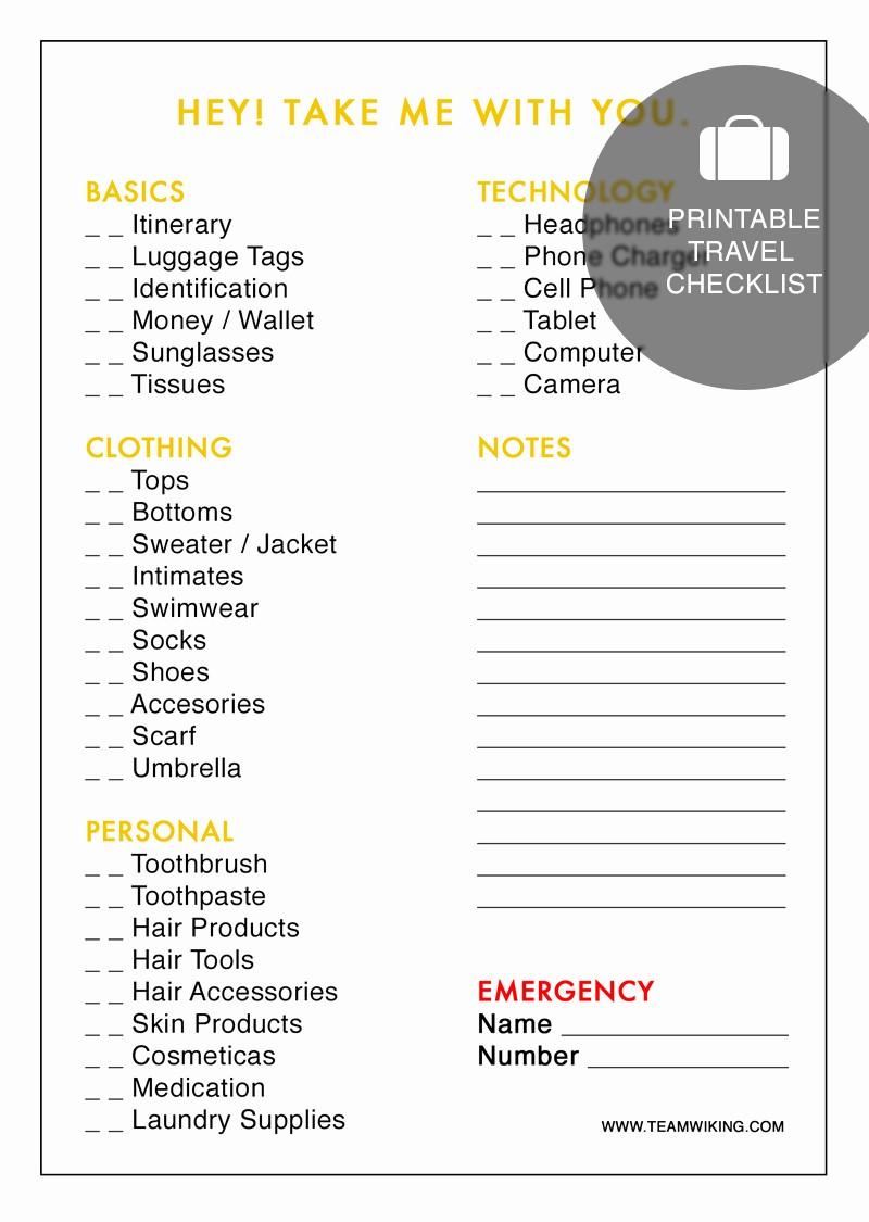 Vacation to Do List Printable Beautiful Printable Travel Checklist Hej Doll