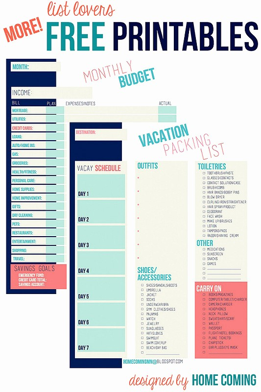 Vacation to Do List Printable Elegant Home Ing Free Printables Vacation Packing List and