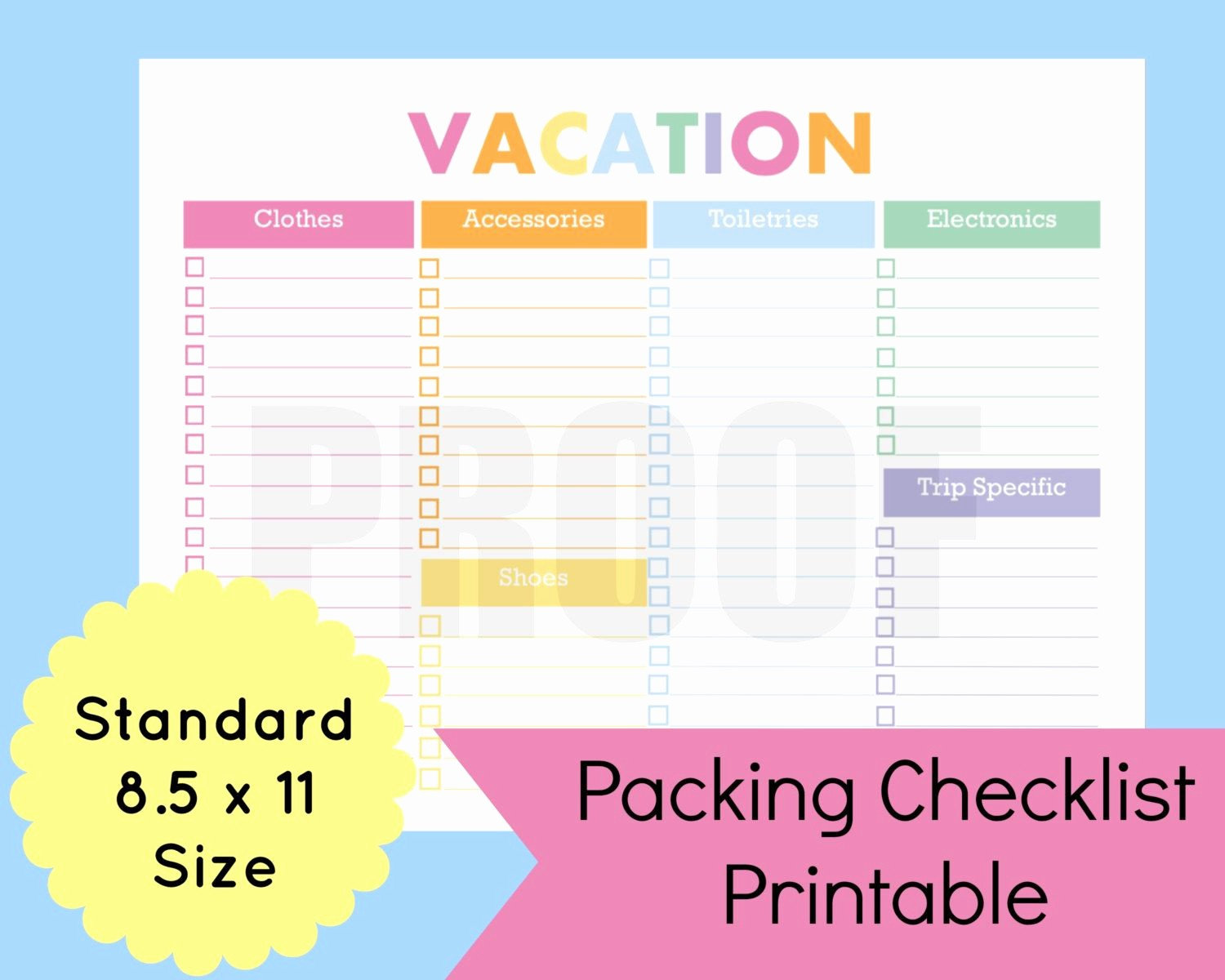 Vacation to Do List Printable Fresh New to Mandcenter On Etsy Packing List Template Travel