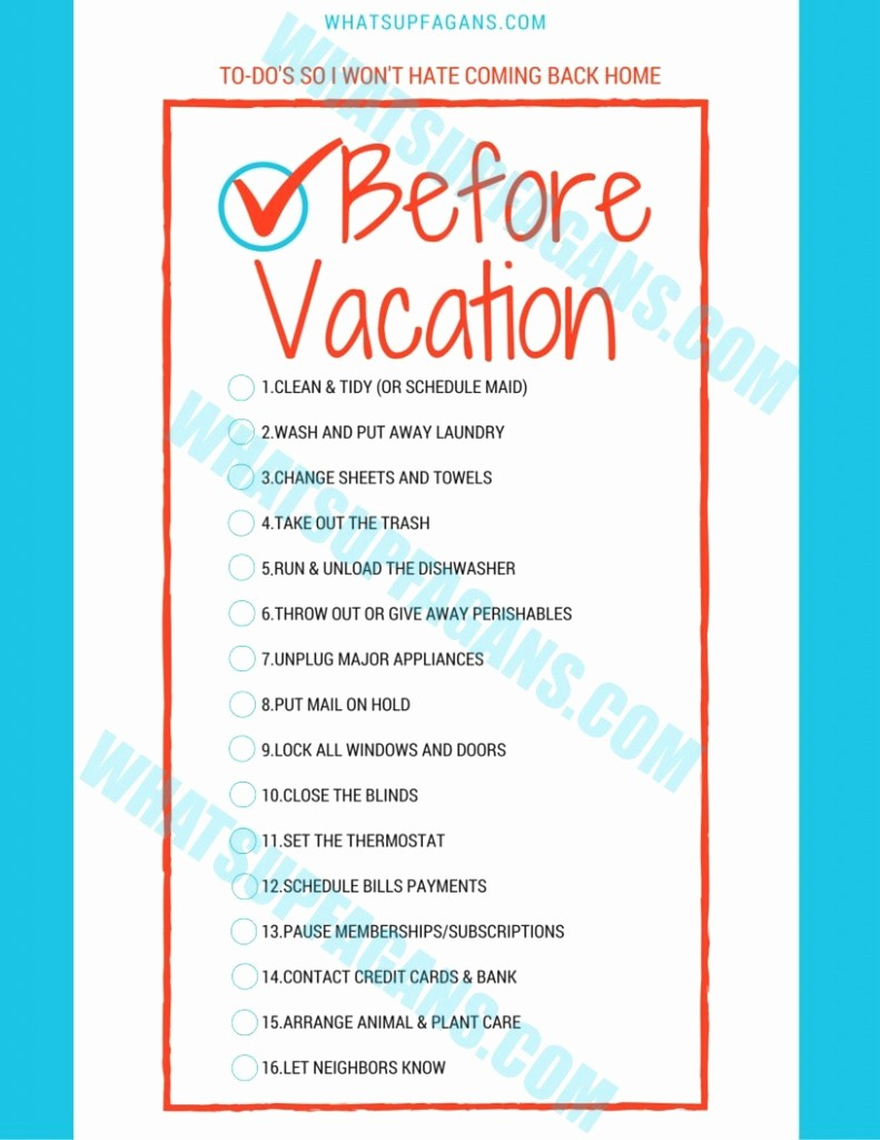 Vacation to Do List Printable Inspirational 16 Smart Things to Do before Vacation so You Won T Dread