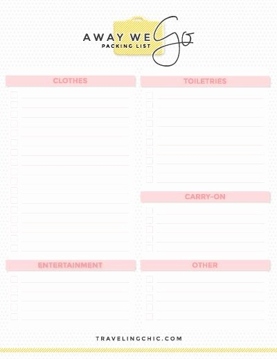 Vacation to Do List Printable Unique Free Packing Guides In 2019 What to Pack