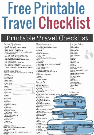 Vacation to Do List Printable Unique Free Printable Travel Checklist