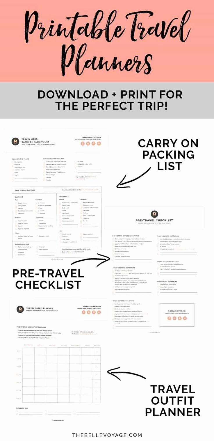 Vacation to Do List Printable Unique Printable Ultimate Packing Checklist for Travel