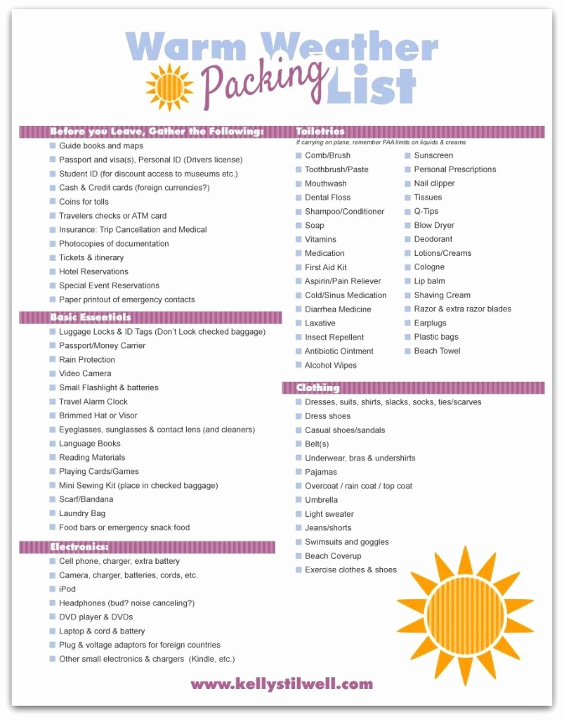Vacation to Do List Printable Unique the Essential Kids Packing List for A Family Vacation