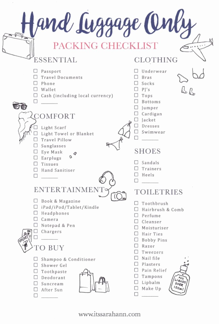 Vacation to Do List Printable Unique Travel Checklist Free Printable Your Holiday Carry