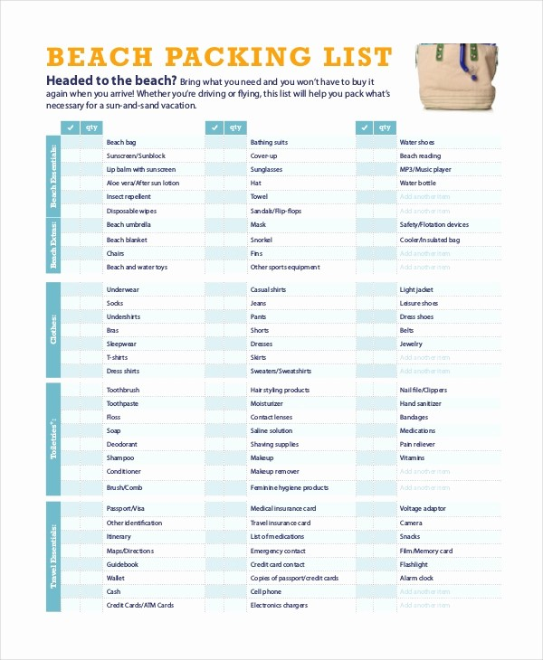 Vacation to Do List Template Awesome Travel Packing List 10 Free Word Pdf Psd Documents