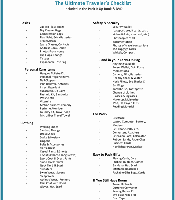 Vacation to Do List Template Beautiful Free Printable List Templates