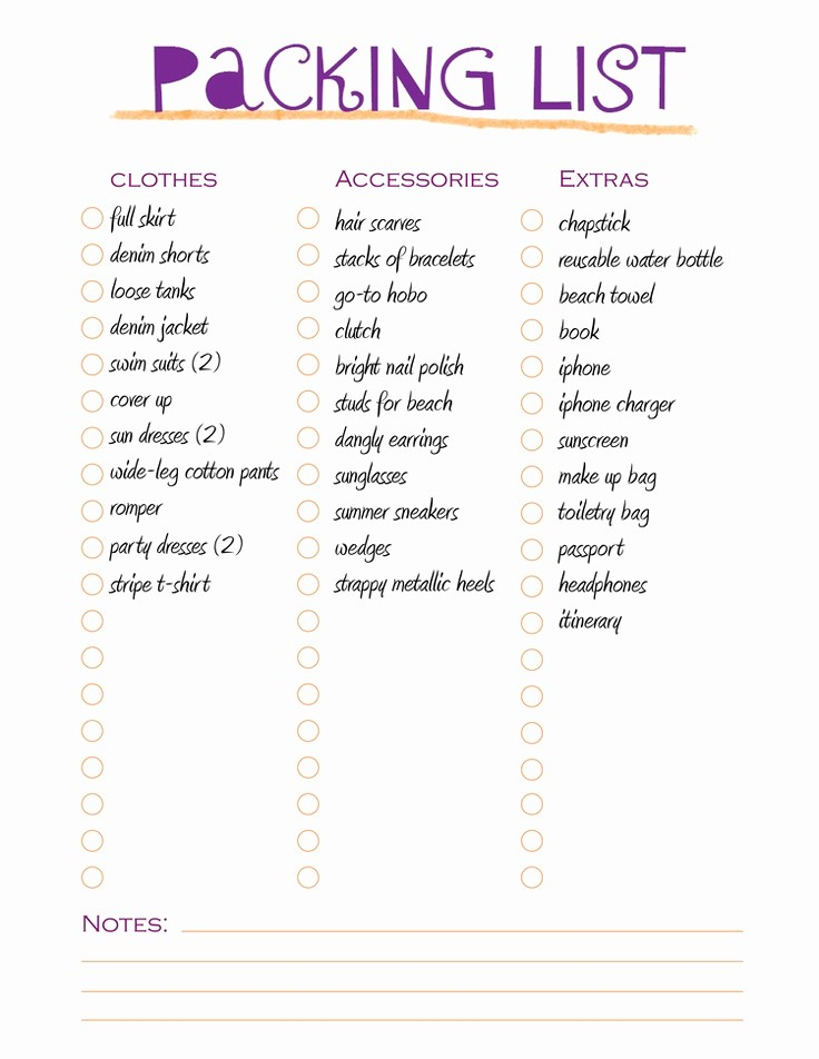 Vacation to Do List Template Best Of 17 Best Ideas About Packing List Template On Pinterest