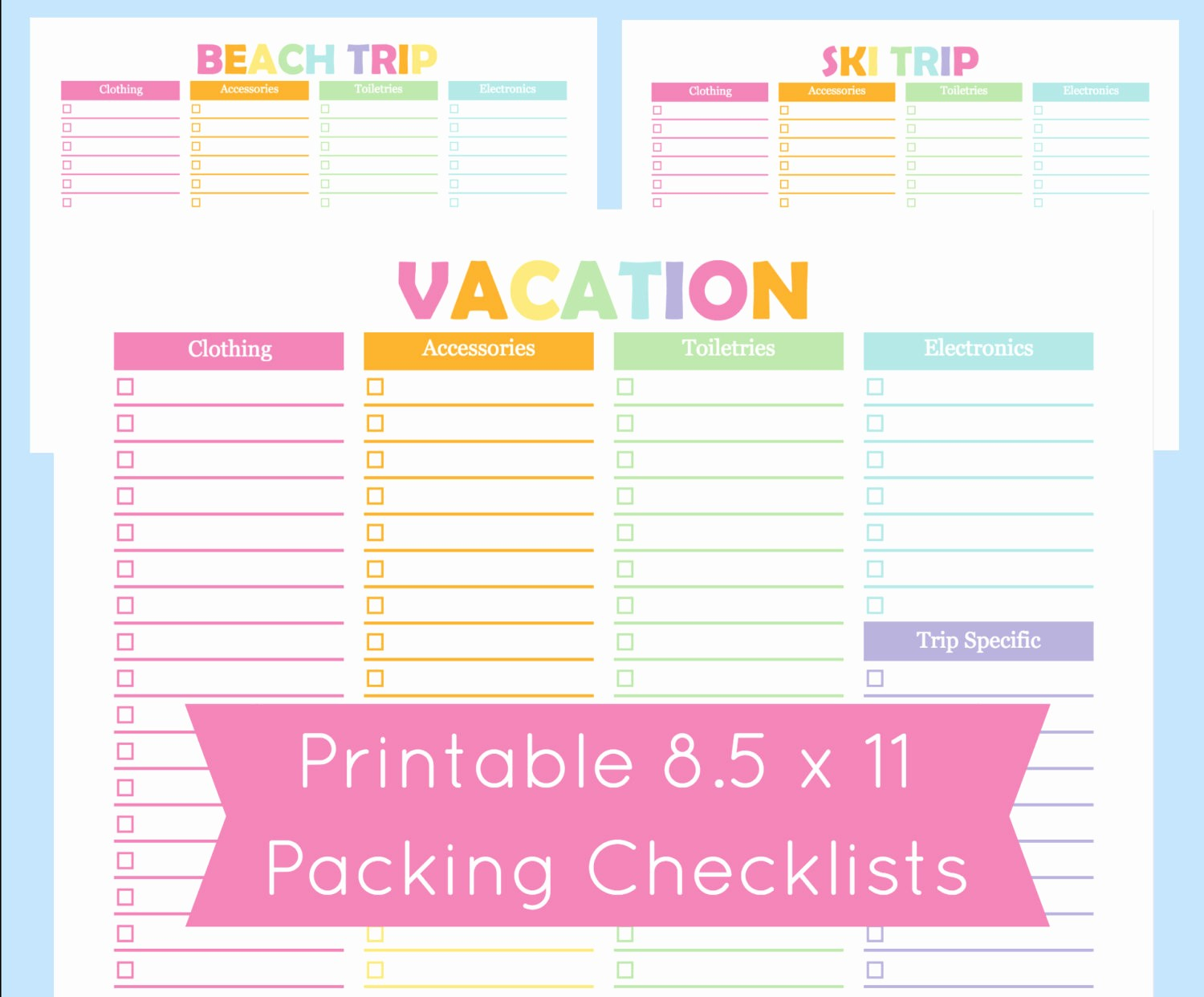 Vacation to Do List Template Best Of Printable Packing Checklist Printable Packing List for the
