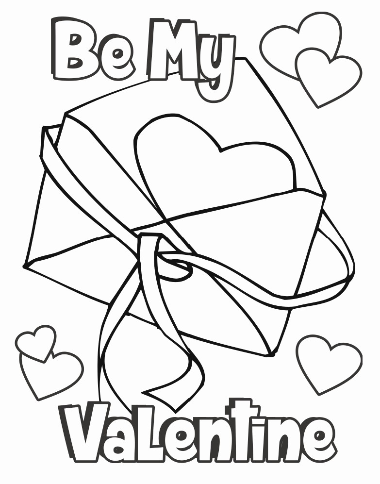 Valentine Card Templates for Kids Awesome Valentine Coloring Page Card