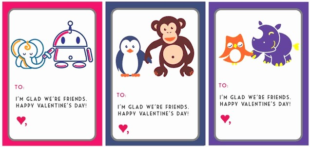Valentine Card Templates for Kids Best Of 30 Super Cool Printable Valentine S Cards for the Classroom