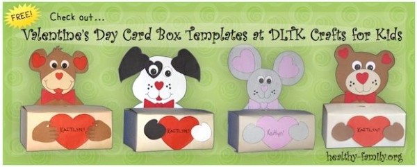 Valentine Card Templates for Kids Best Of Check Out these Box Valentine Card Holder Templates From