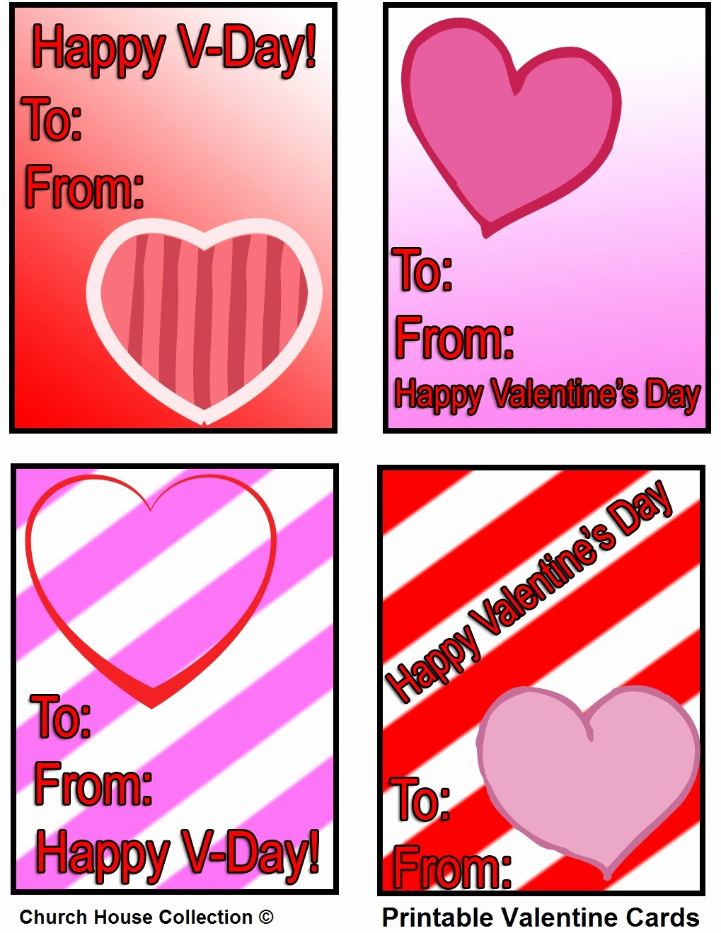 Valentine Card Templates for Kids Best Of Church House Collection Blog Printable Valentine Cards