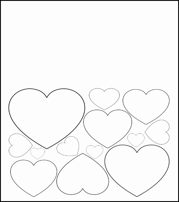 Valentine Card Templates for Kids Best Of Free Printable Valentine S Day Card to Color Heart Pattern
