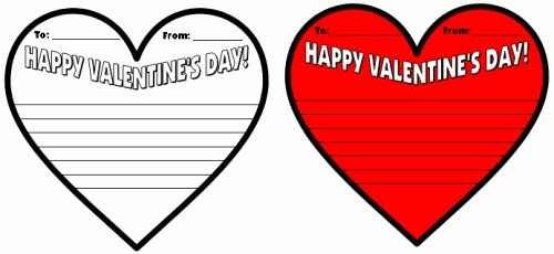 Valentine Card Templates for Kids Best Of Valentine S Day Teaching Resources Lesson Plans for