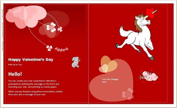 Valentine Card Templates for Kids Best Of Valentines Card Template – Quotes & Wishes for Valentine's