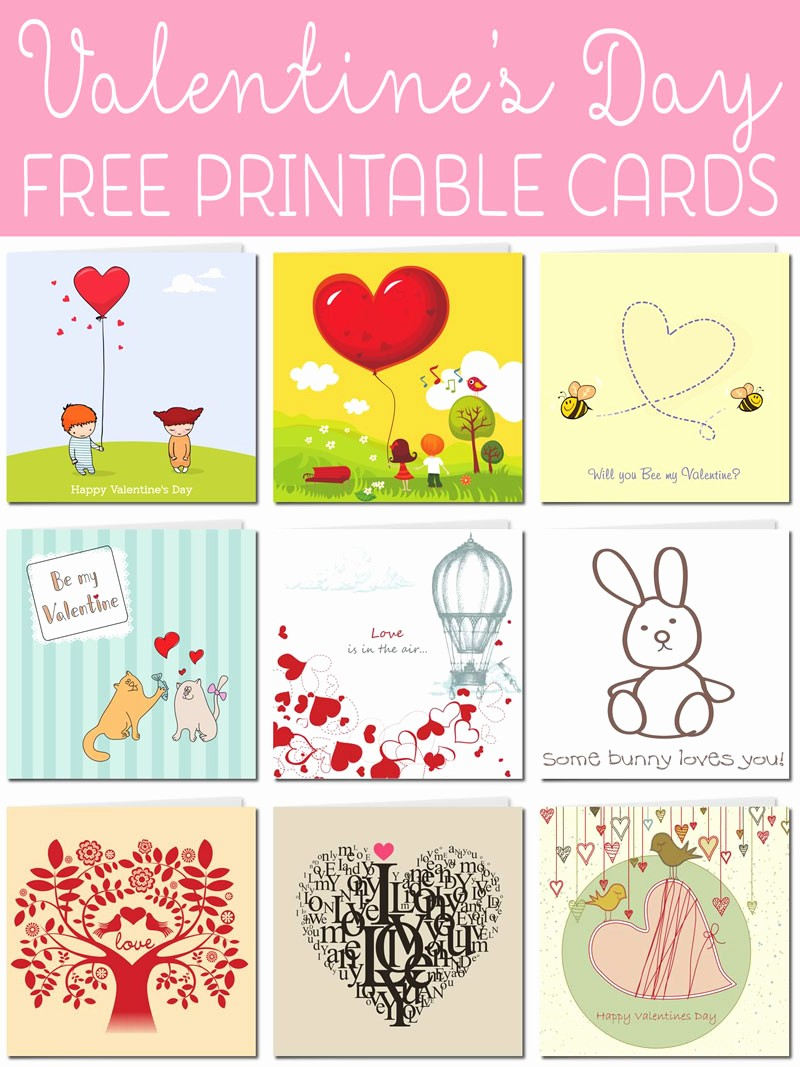 Valentine Card Templates for Kids Elegant Free Printable Valentine Cards
