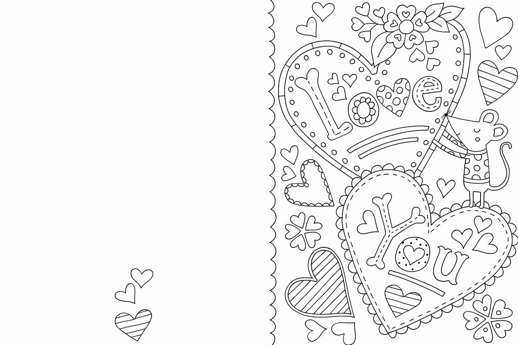 Valentine Card Templates for Kids Elegant Free Valentine S Card Colouring Download Hobbycraft Blog