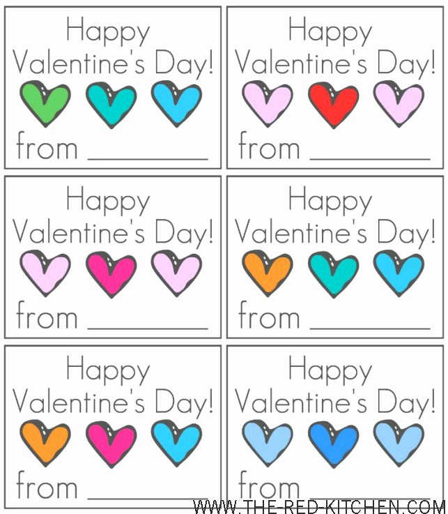 Valentine Card Templates for Kids Fresh 8 Best Of Happy Valentine S Cards Printable Out