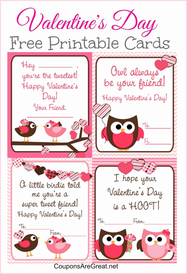 Valentine Card Templates for Kids Fresh 9 Best Of Free Printable Kids Valentine S Day Card