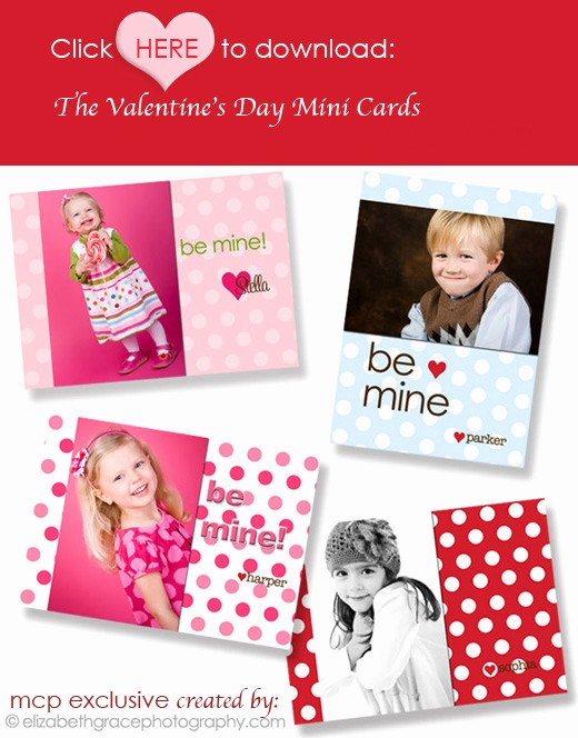Valentine Card Templates for Kids Fresh Free Valentine S Day Mini Cards Great Gift for Customers