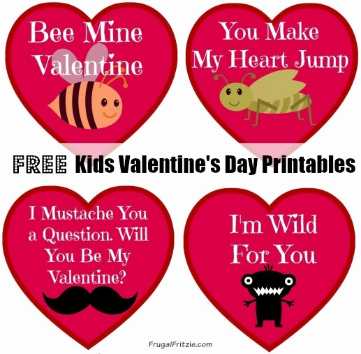 Valentine Card Templates for Kids Inspirational Free Printable Valentine S Cards Archives Frugal Fritzie
