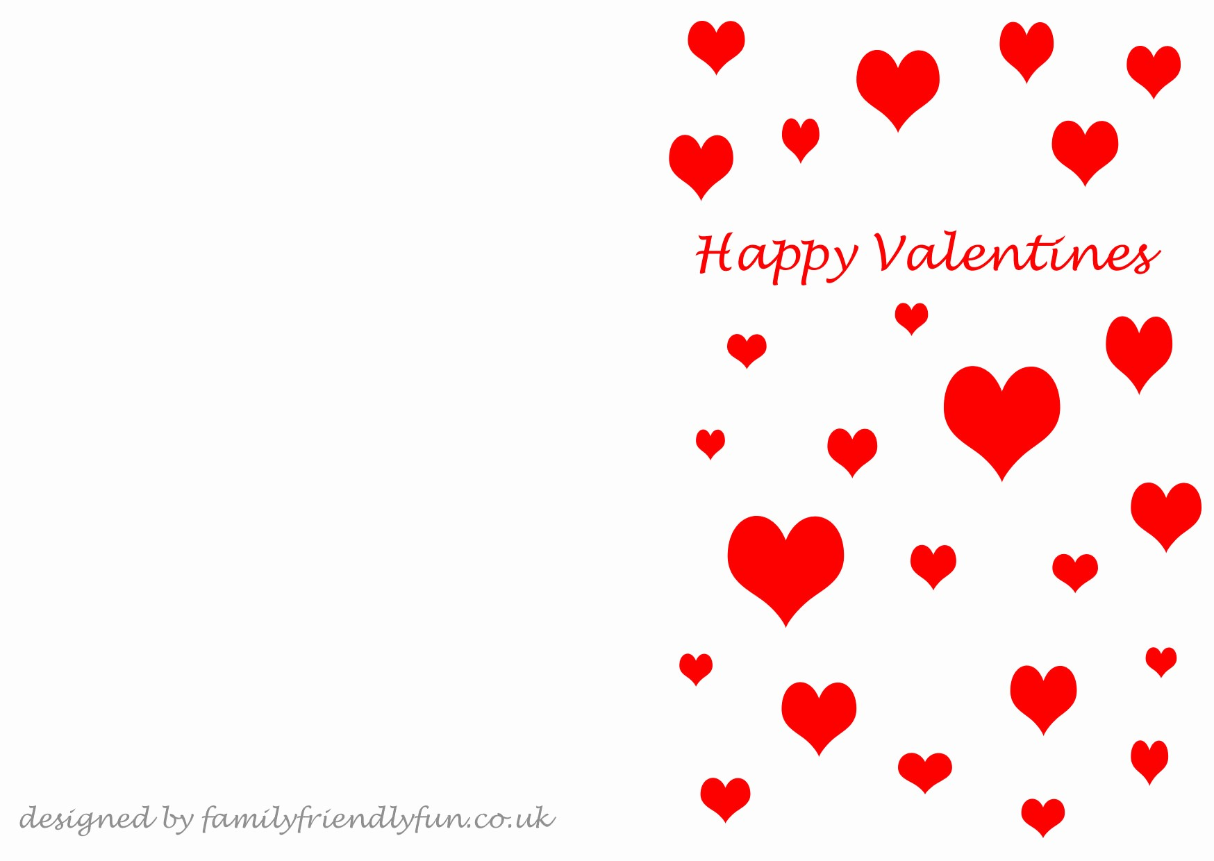 Valentine Card Templates for Kids Lovely Fresh Valentines Day Cards Printable