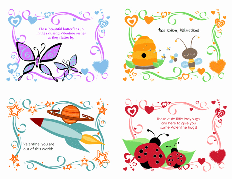 Valentine Card Templates for Kids Luxury Cards Fice