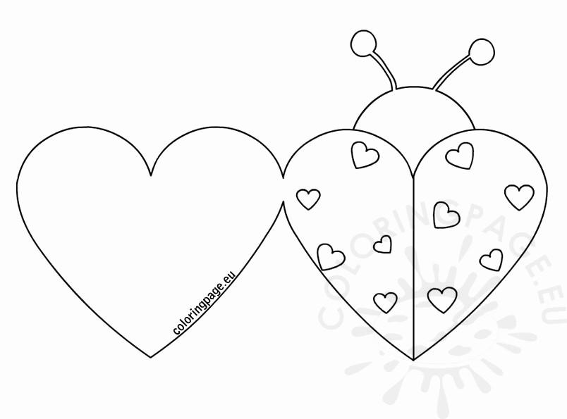 Valentine Card Templates for Kids Luxury Ladybug Valentine Cards
