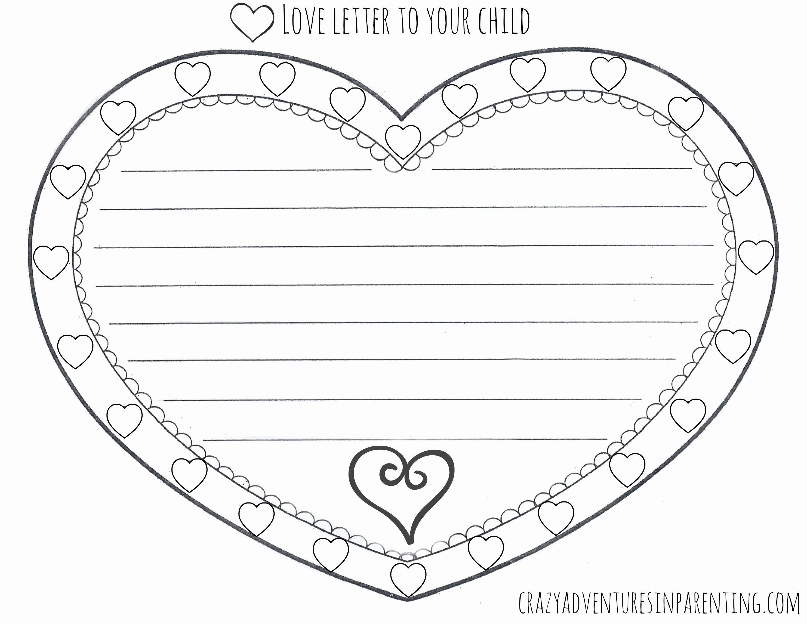 Valentine Card Templates for Kids New 9 Best Of Love Letter Templates Printable Free