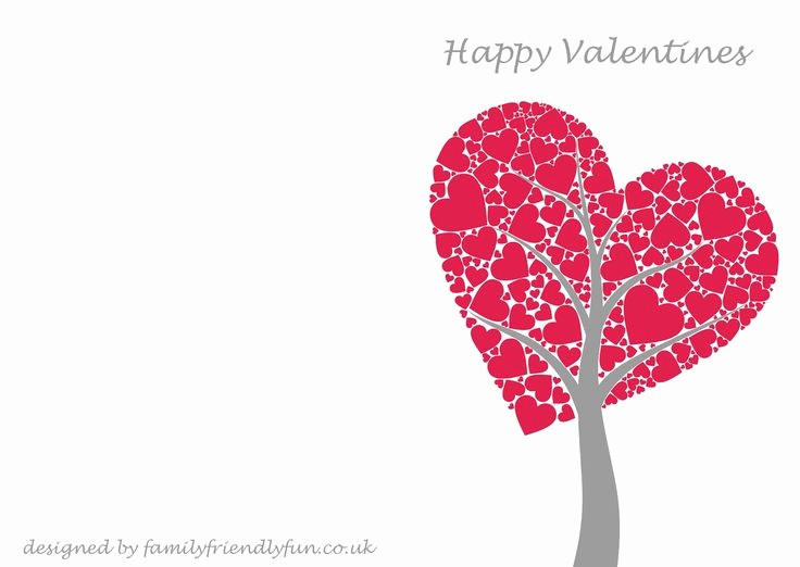 Valentine Card Templates for Kids New Valentine S Card Templates