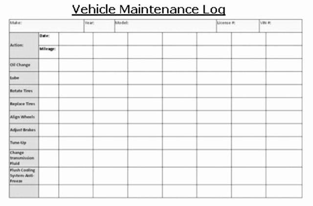 Vehicle Maintenance Log Book Pdf Awesome Vehicle Maintenance Vehicles Lct Magazine