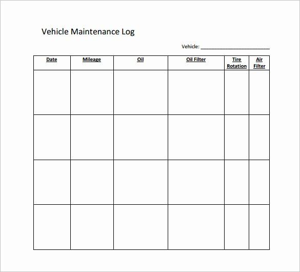 Vehicle Maintenance Log Book Pdf Fresh Maintenance Schedule Templates 35 Free Word Excel Pdf
