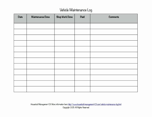 Vehicle Maintenance Log Book Pdf Inspirational Free Printable Vehicle Maintenance Log why You Should