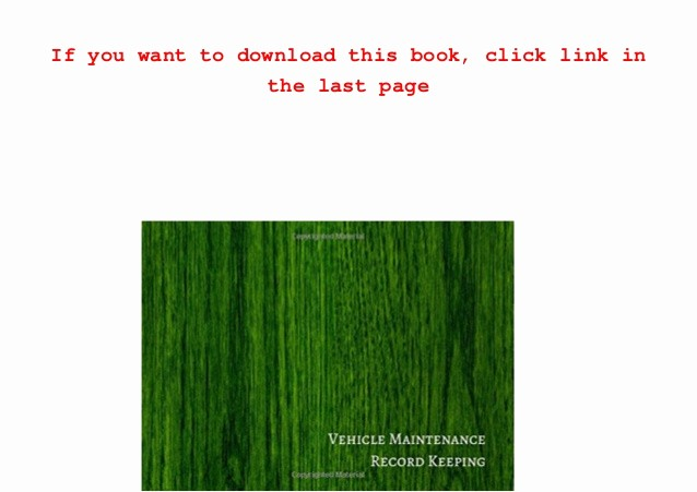 Vehicle Maintenance Log Book Pdf Lovely Download Vehicle Maintenance Record Keeping Vehicle