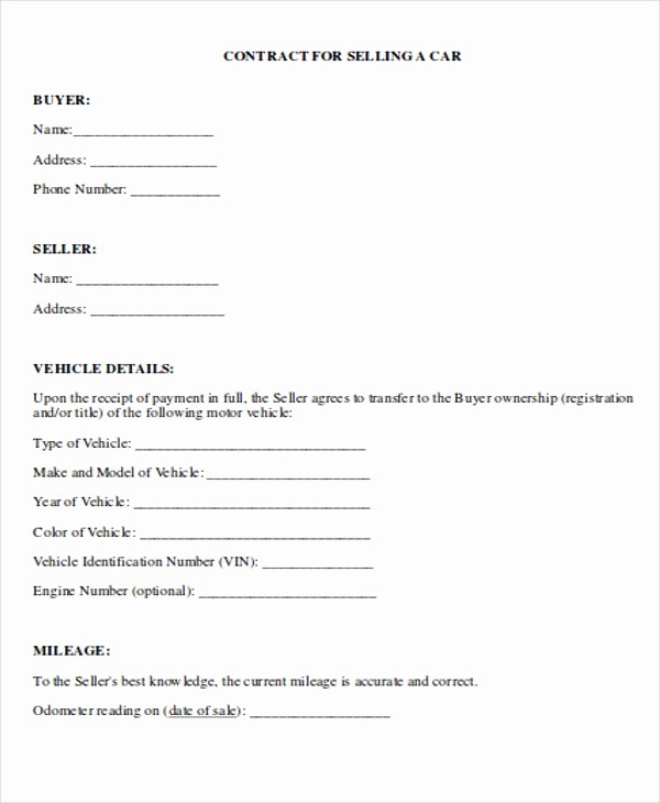 Vehicle Sale Agreement with Payments Best Of 8 Payment Contract Templates Sample Example format