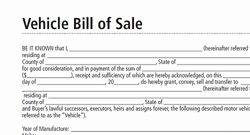 Vehicle Sale as is form Fresh Free Printable Bill Sale form form Generic