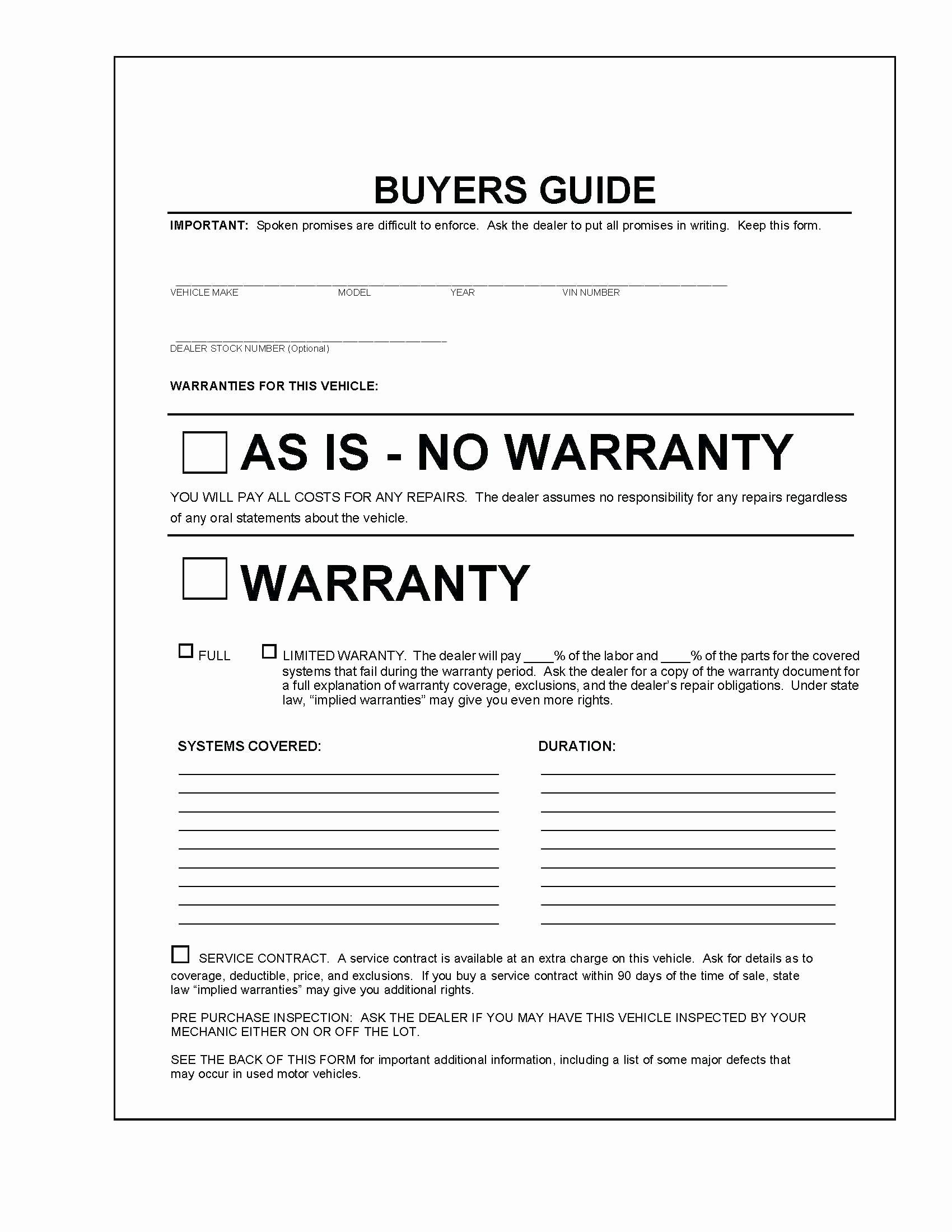 Vehicle Sale as is form Lovely Template Dealer Agreement Template