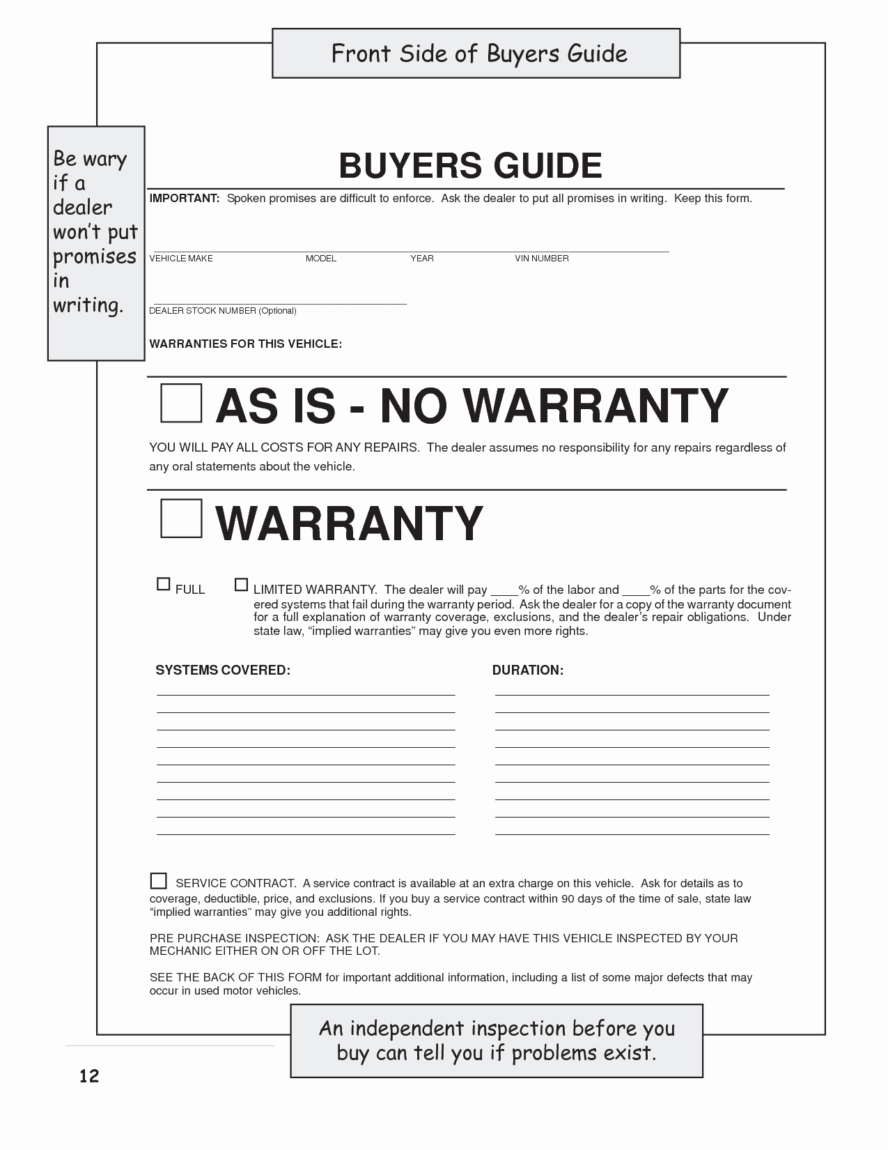 Vehicle Sale as is form Unique Vehicle Bill Of Sale No Warranty Template Bill Of Sales