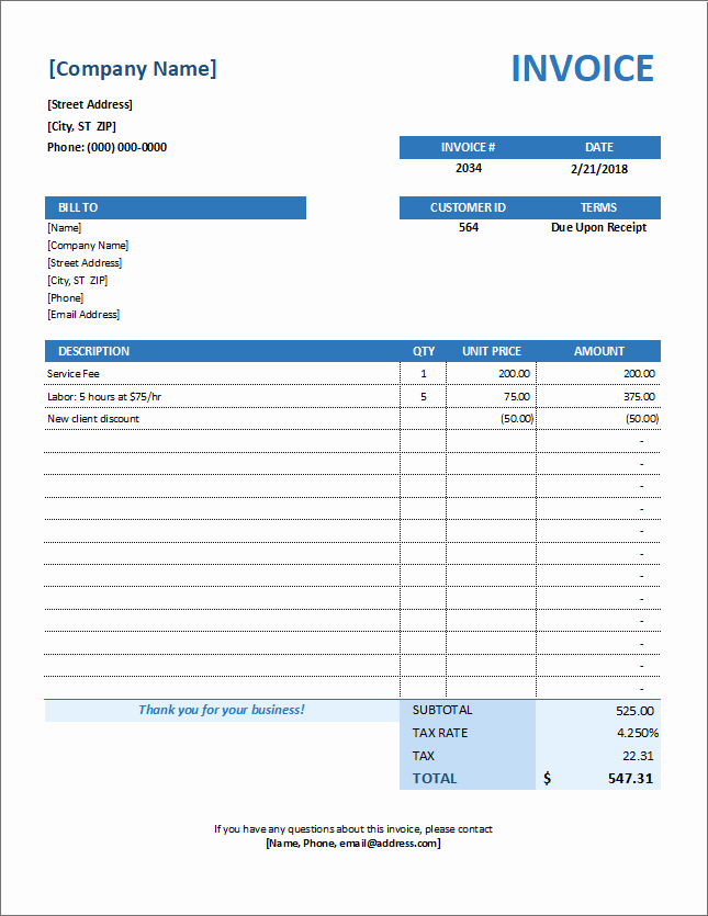 Vehicle Service Due Status Report Awesome Service Invoice Template for Consultants and Service Providers