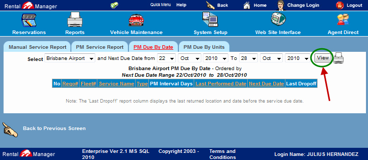 Vehicle Service Due Status Report Best Of 3 Pm Due by Date