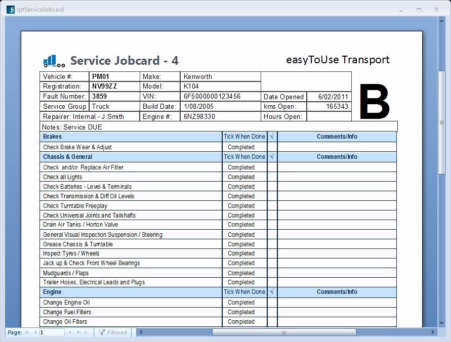 Vehicle Service Due Status Report Elegant Servicetracker5 Services and Service Due Easy 2
